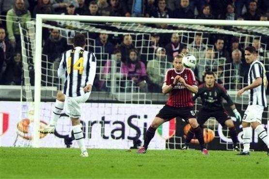 Gol di Vucinic al Milan
